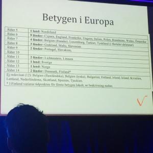 Betyg Europa